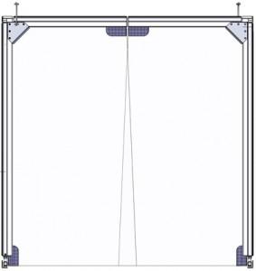 Brama wahadłowa 1-częściowa z folii transparentnej Standard