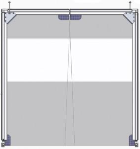 Brama wahadłowa 3-częściowa (góra i dół płata nietransparentne)